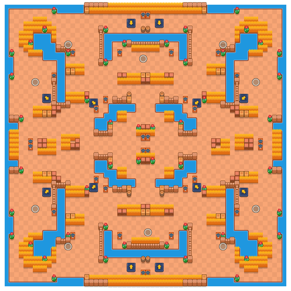 Vliegende fantasieën is a Solo-Showdown Brawl Stars map. Check out Vliegende fantasieën's map picture for Solo-Showdown and the best and recommended brawlers in Brawl Stars.