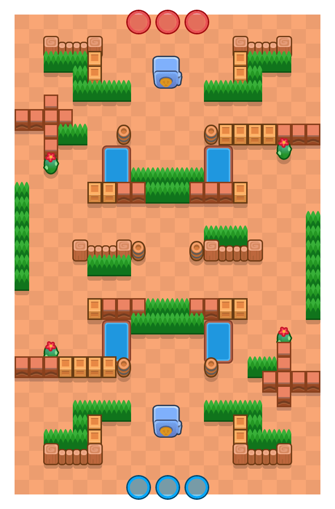 Derroche is a Atraco Brawl Stars map. Check out Derroche's map picture for Atraco and the best and recommended brawlers in Brawl Stars.