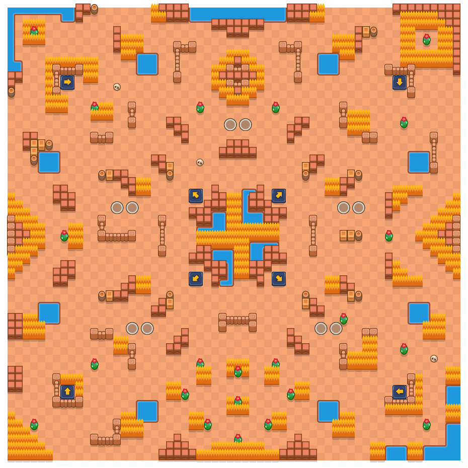 Pendiente desamparada is a Supervivencia (dúo) map in Brawl Stars.