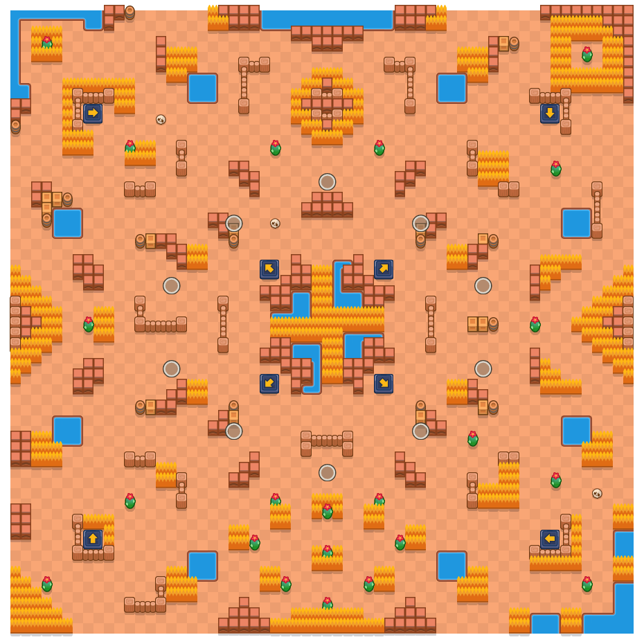 Pendiente desamparada is a Supervivencia (solo) map in Brawl Stars.