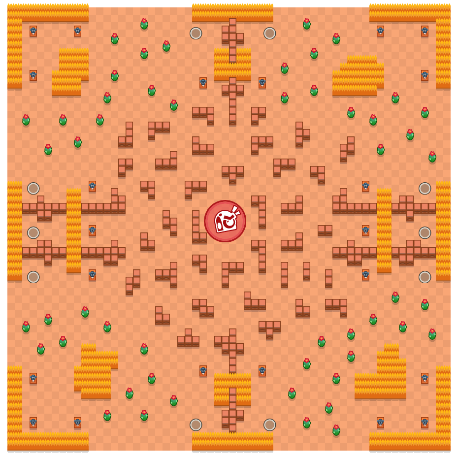 Frenemies is a Takedown Brawl Stars map. Check out Frenemies's map picture for Takedown and the best and recommended brawlers in Brawl Stars.