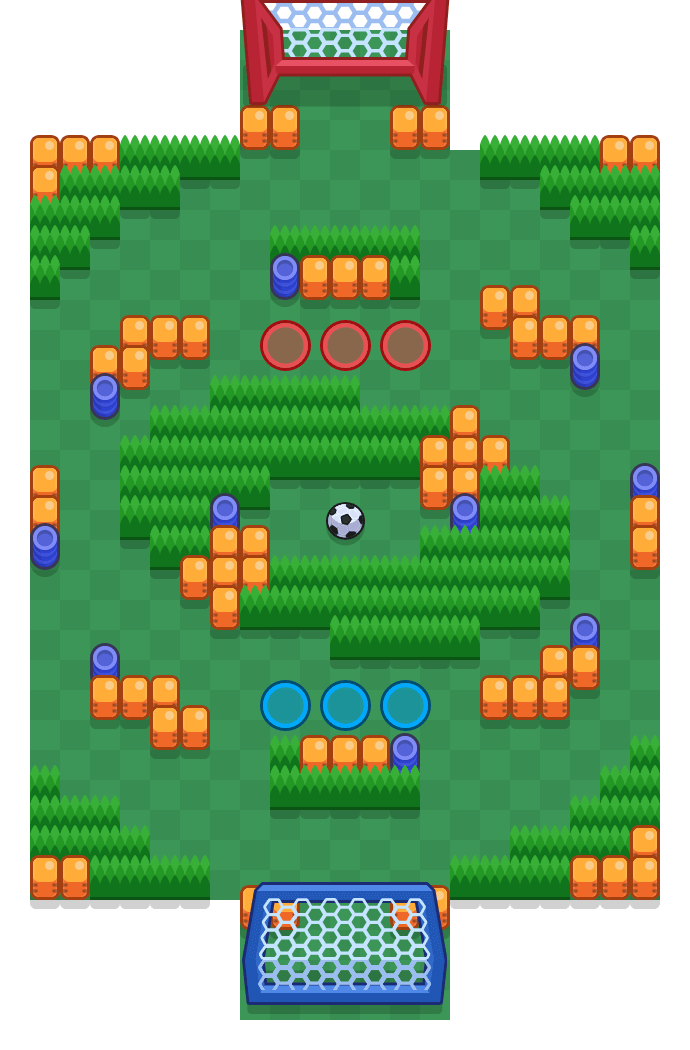 Galaxy Arena is a Brawl Ball map in Brawl Stars.
