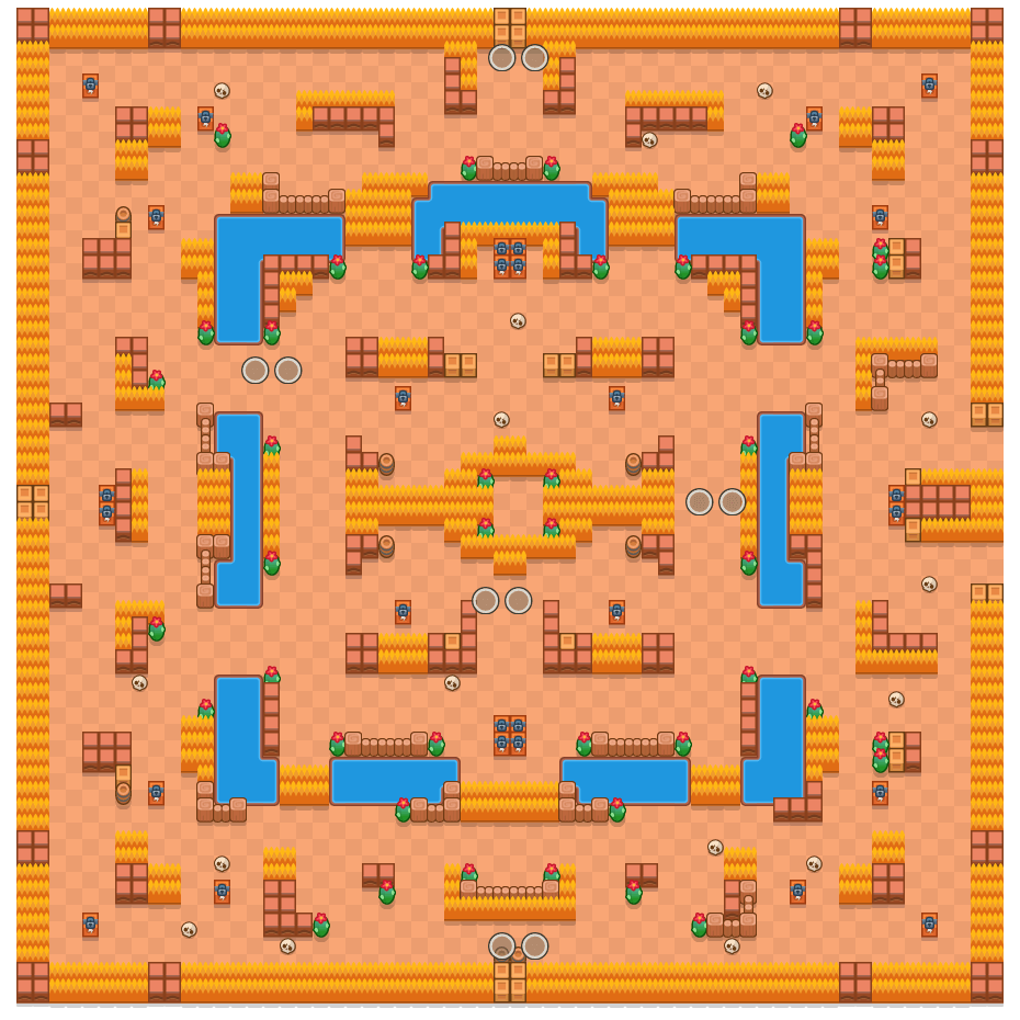 Ghost Point is a Duo Showdown Brawl Stars map. Check out Ghost Point's map picture for Duo Showdown and the best and recommended brawlers in Brawl Stars.