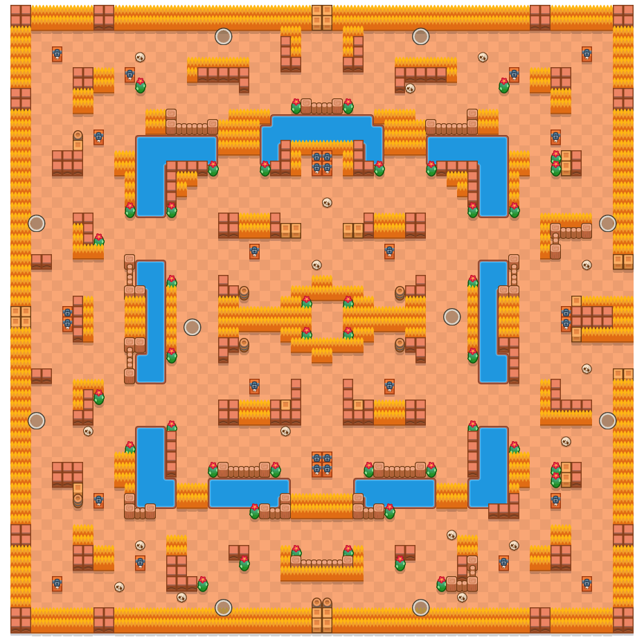 Spookpunt is a Solo-Showdown Brawl Stars map. Check out Spookpunt's map picture for Solo-Showdown and the best and recommended brawlers in Brawl Stars.