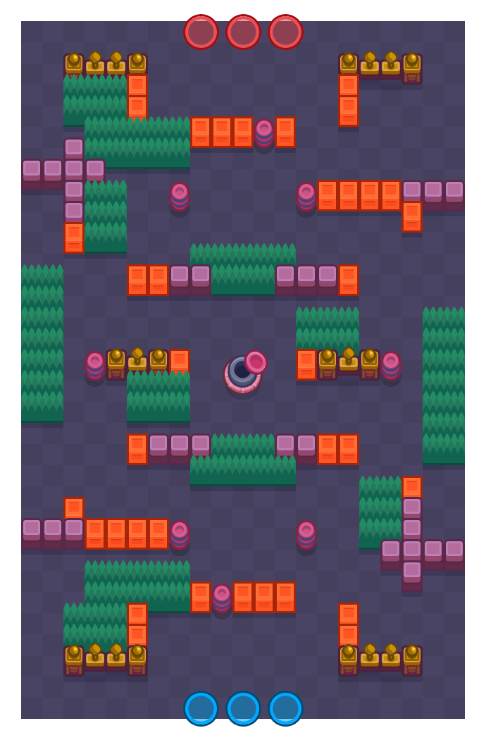 Gift Wrap is a Gem Grab Brawl Stars map. Check out Gift Wrap's map picture for Gem Grab and the best and recommended brawlers in Brawl Stars.