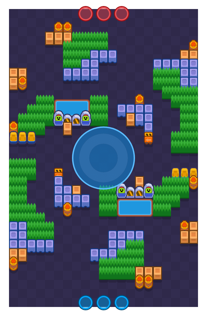 Golden Hacks is a Hot Zone Brawl Stars map. Check out Golden Hacks's map picture for Hot Zone and the best and recommended brawlers in Brawl Stars.