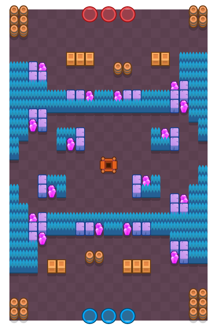 Hard Rock Mine is a Gem Grab map in Brawl Stars.