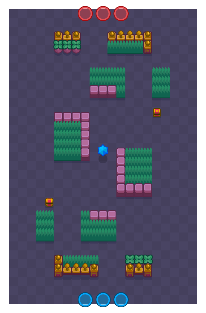 Hideout is a Bounty Brawl Stars map. Check out Hideout's map picture for Bounty and the best and recommended brawlers in Brawl Stars.