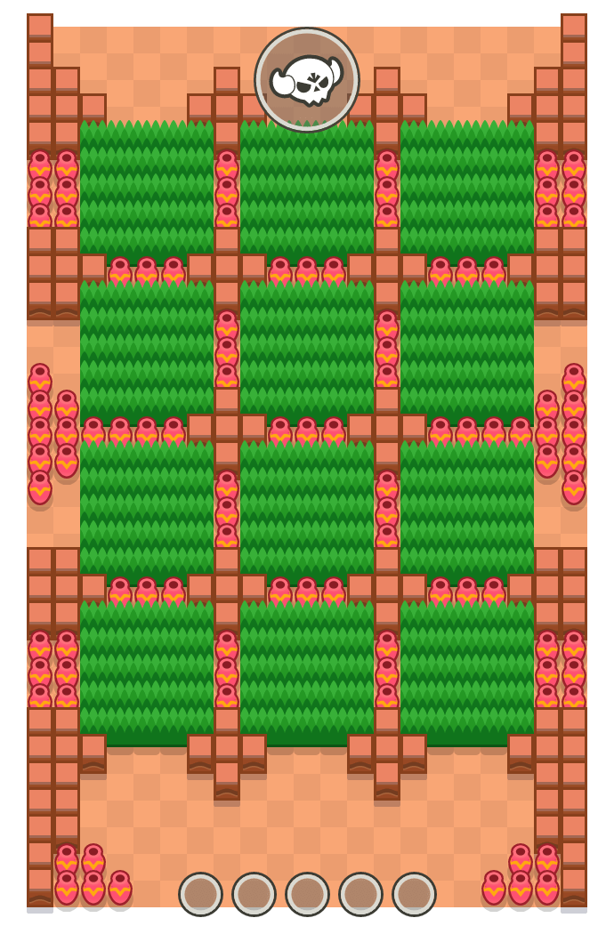 Cazadores is a Megabrawl Brawl Stars map. Check out Cazadores's map picture for Megabrawl and the best and recommended brawlers in Brawl Stars.
