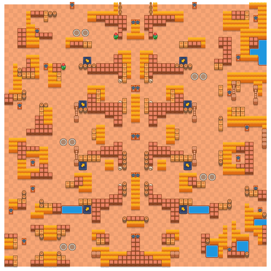 Ignition is a Duo Showdown Brawl Stars map. Check out Ignition's map picture for Duo Showdown and the best and recommended brawlers in Brawl Stars.