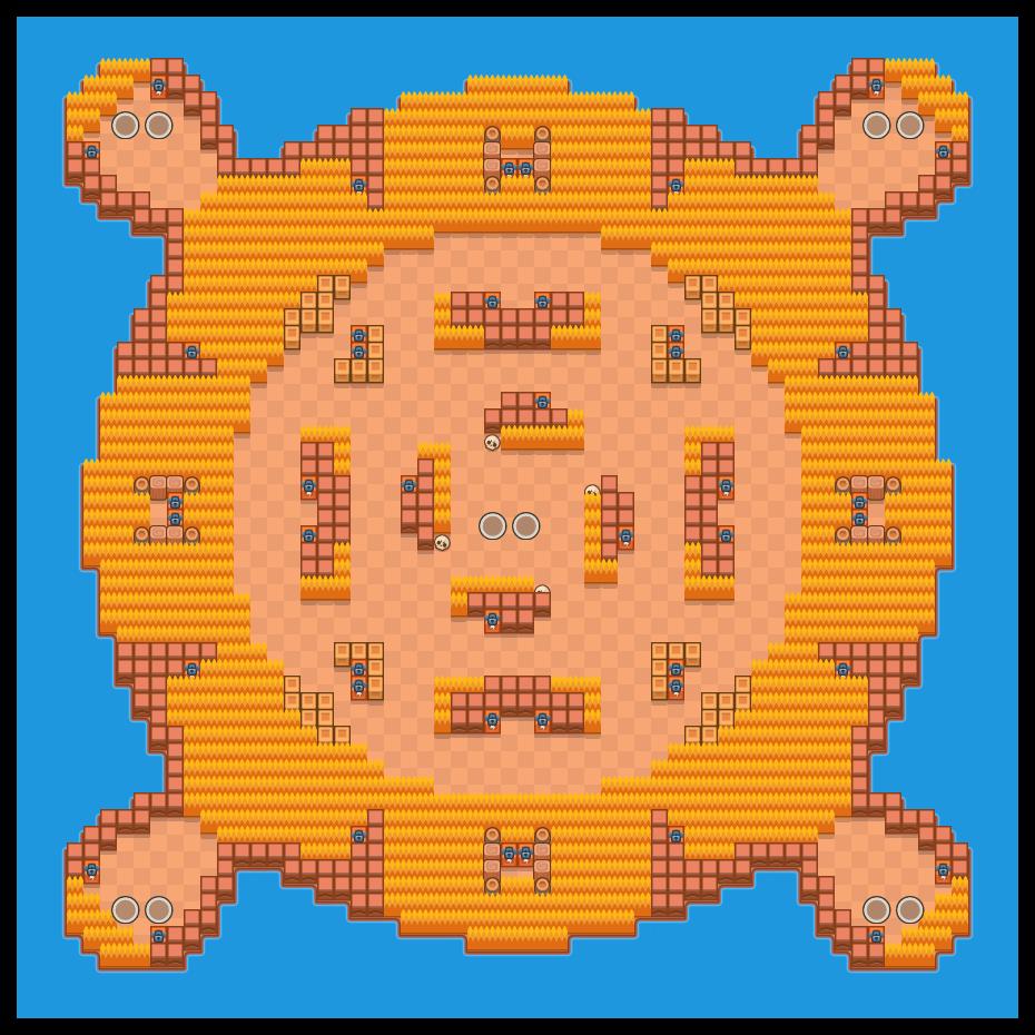 Island Invasion is a Duo Showdown map in Brawl Stars.