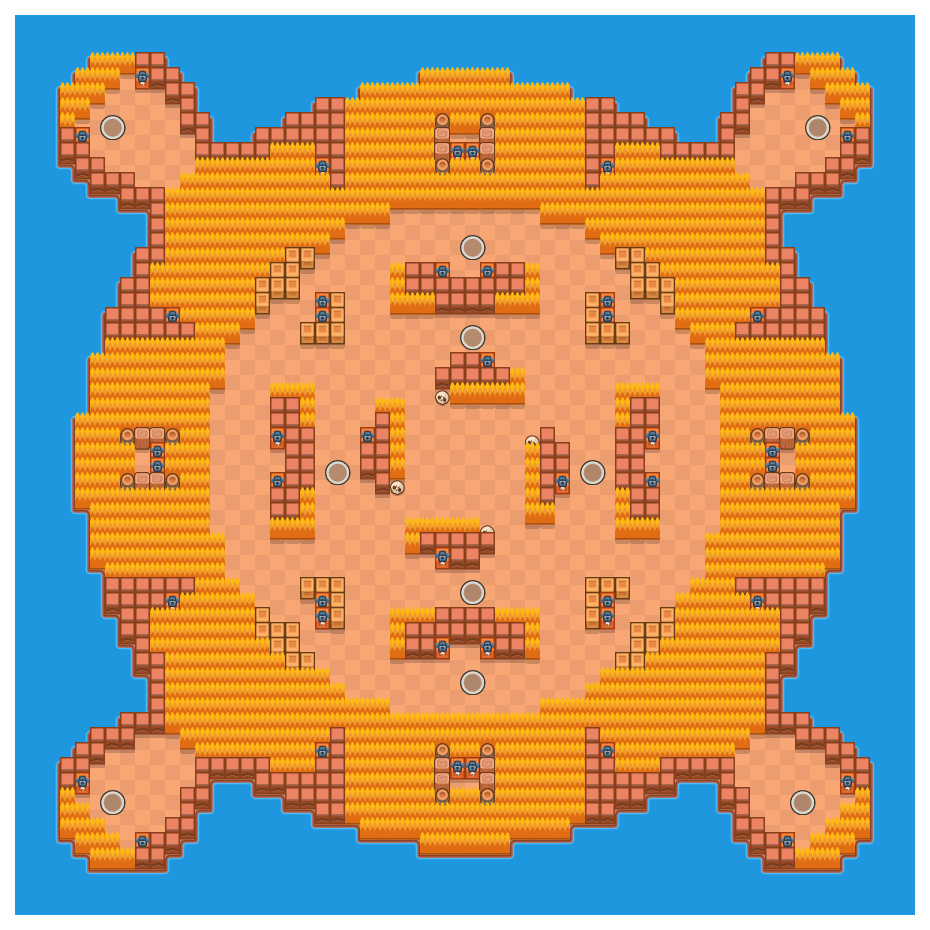 Island Invasion is a Solo Showdown map in Brawl Stars.