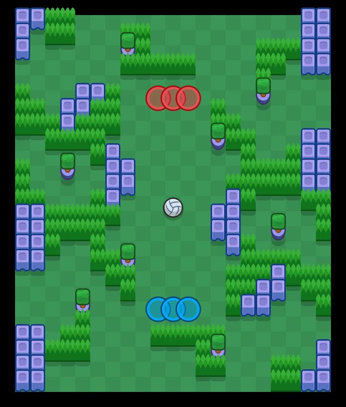 Jeu de jungle is a Volley Brawl map in Brawl Stars.