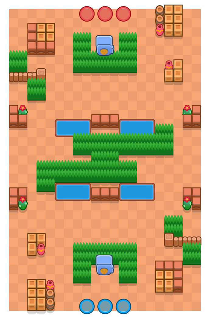 Kaboom Canyon is a Heist Brawl Stars map. Check out Kaboom Canyon's map picture for Heist and the best and recommended brawlers in Brawl Stars.