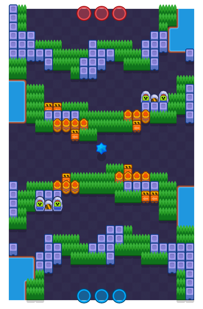 Layer Cake is a Bounty map in Brawl Stars.