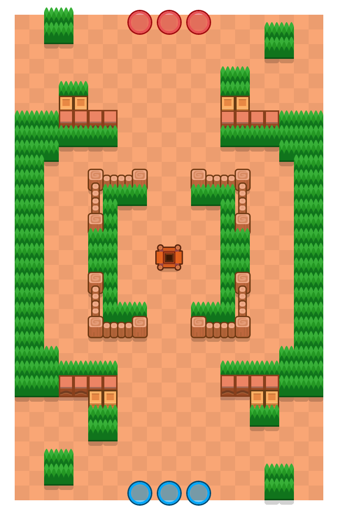 Merch Fort is a Gem Grab Brawl Stars map. Check out Merch Fort's map picture for Gem Grab and the best and recommended brawlers in Brawl Stars.