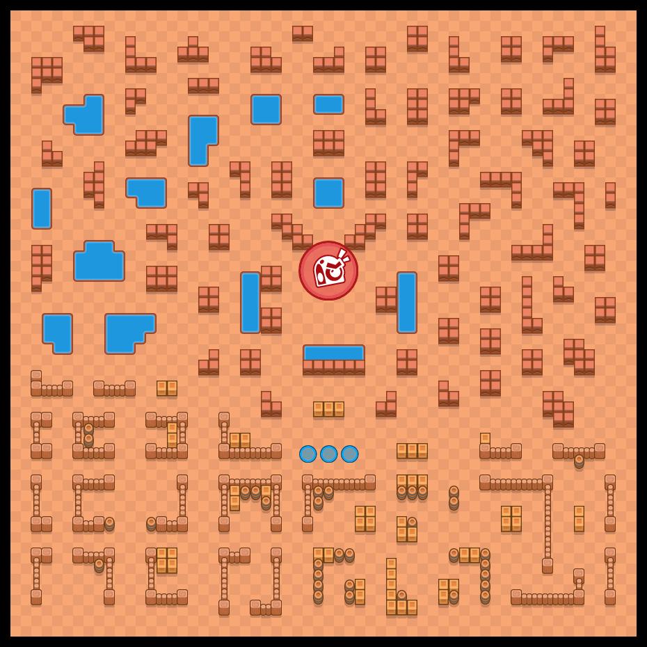 破銅爛鐵 is a 團隊首領戰 map in Brawl Stars.