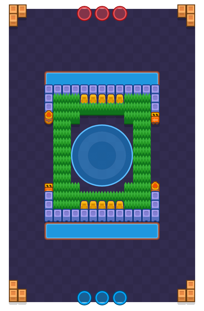 Mosh Pit is a Hot Zone Brawl Stars map. Check out Mosh Pit's map picture for Hot Zone and the best and recommended brawlers in Brawl Stars.