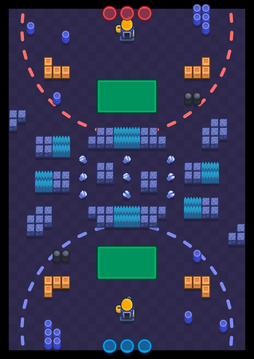 Tuercas y tornillos is a Asedio map in Brawl Stars.