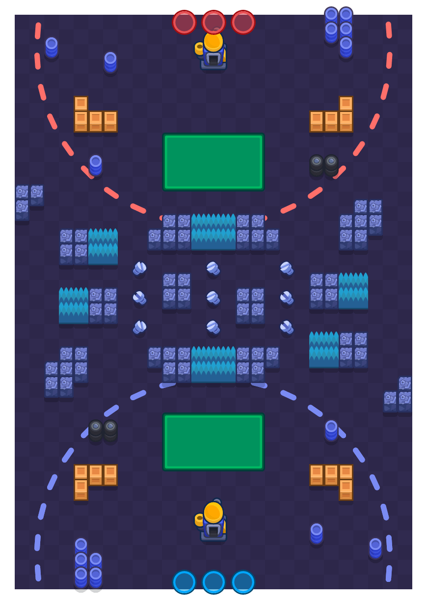 Nuts & Bolts is a Siege Brawl Stars map. Check out Nuts & Bolts's map picture for Siege and the best and recommended brawlers in Brawl Stars.