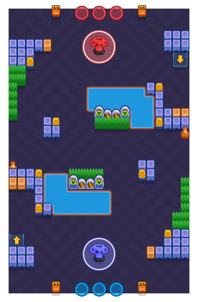 Ocean's Six is a Trophy Thieves Brawl Stars map. Check out Ocean's Six's map picture for Trophy Thieves and the best and recommended brawlers in Brawl Stars.