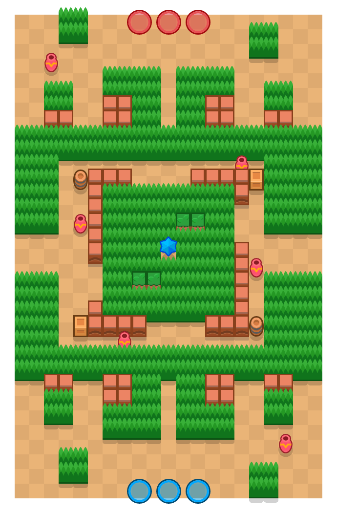 Outlaw Camp is a Bounty Brawl Stars map. Check out Outlaw Camp's map picture for Bounty and the best and recommended brawlers in Brawl Stars.