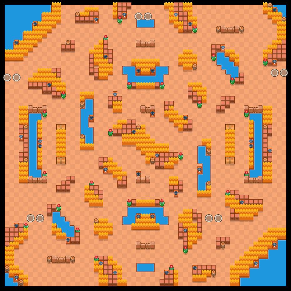 Çılgın Köy is a Çi̇ft Hesaplaşma map in Brawl Stars.