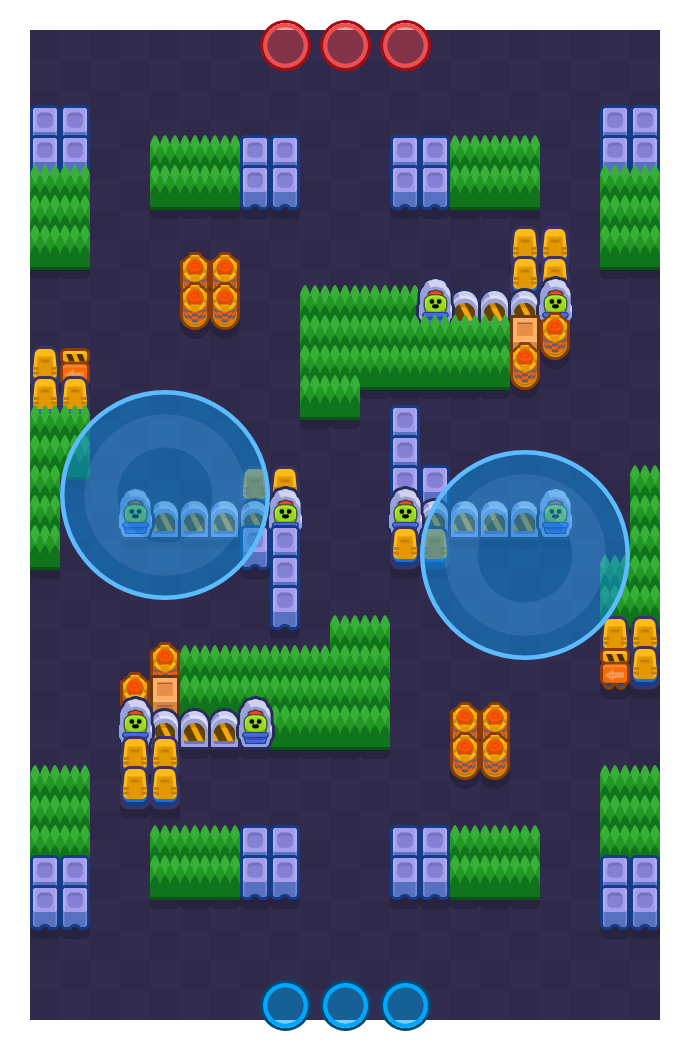 Perimeter is a Hot Zone Brawl Stars map. Check out Perimeter's map picture for Hot Zone and the best and recommended brawlers in Brawl Stars.