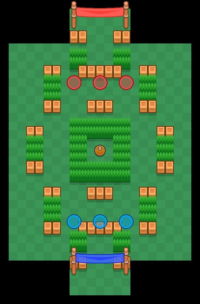Tiro de meta is a Fute-Brawl map in Brawl Stars.