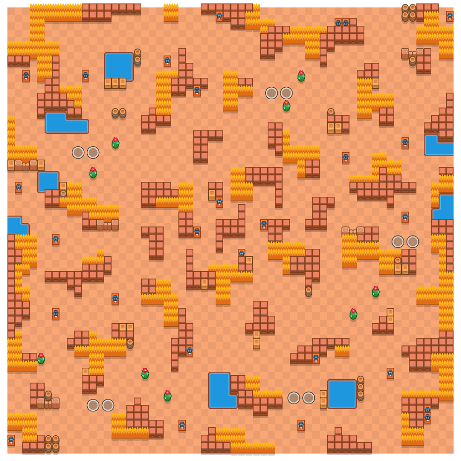 Cima panoramica is a Sopravvivenza (in Due) map in Brawl Stars.