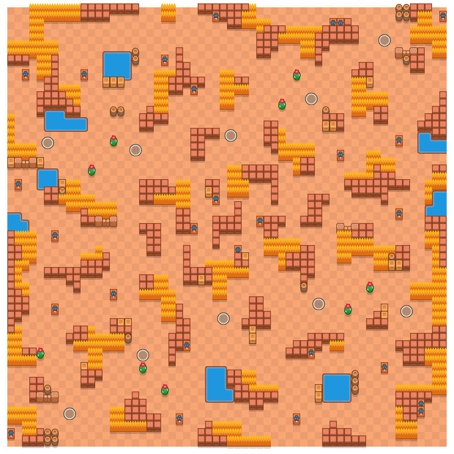 Oogpunt is a Solo-Showdown Brawl Stars map. Check out Oogpunt's map picture for Solo-Showdown and the best and recommended brawlers in Brawl Stars.