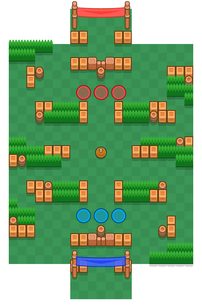 Power Shot is a Brawl Ball map in Brawl Stars.