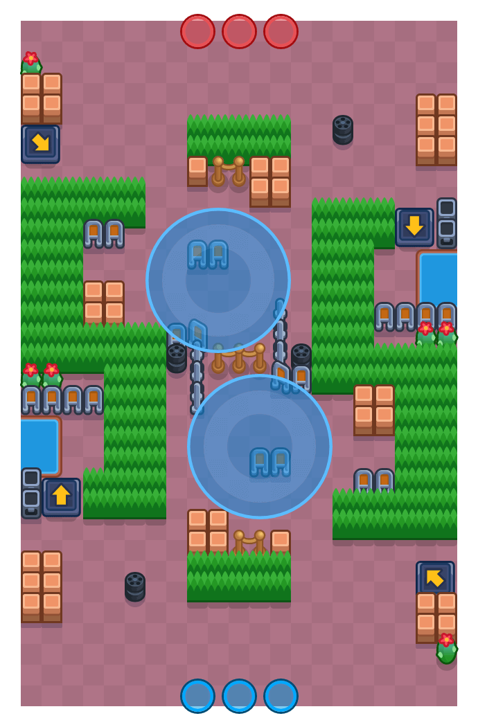 Quick Travel is a Hot Zone Brawl Stars map. Check out Quick Travel's map picture for Hot Zone and the best and recommended brawlers in Brawl Stars.