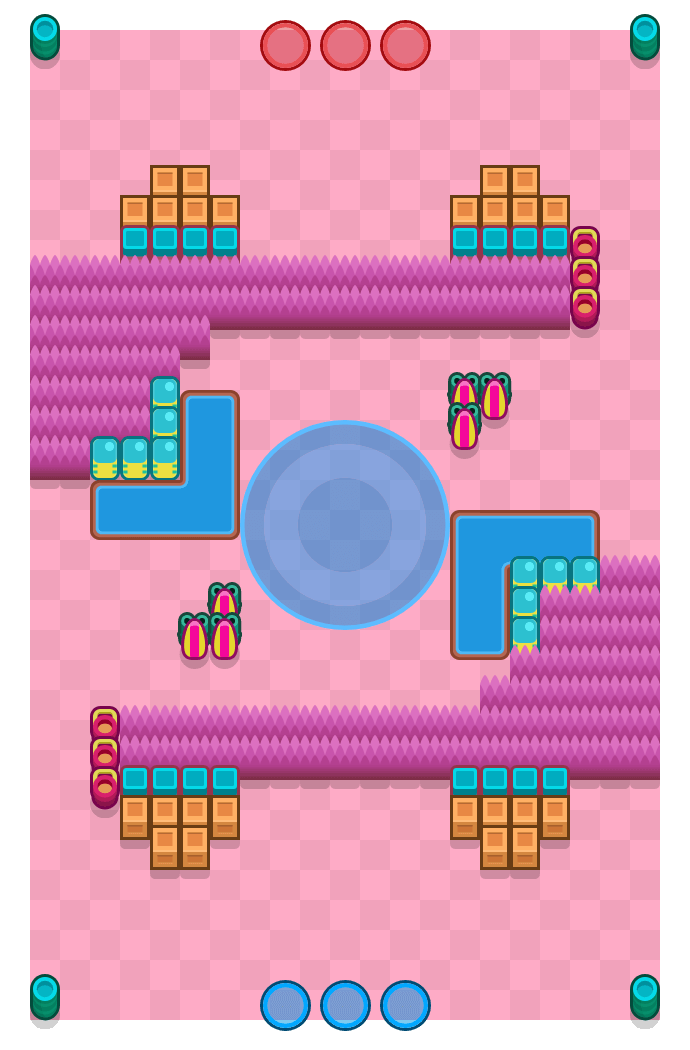 Ring of Fire is a Hot Zone Brawl Stars map. Check out Ring of Fire's map picture for Hot Zone and the best and recommended brawlers in Brawl Stars.