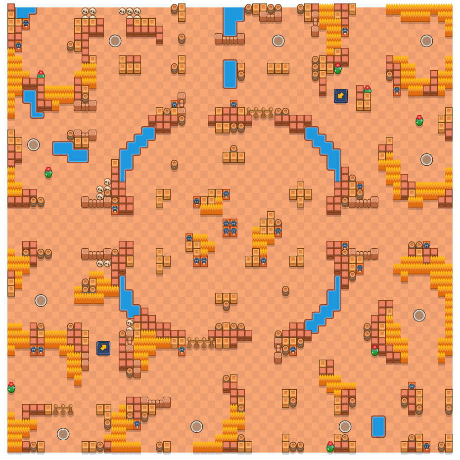 Oeverophef is a Solo-Showdown Brawl Stars map. Check out Oeverophef's map picture for Solo-Showdown and the best and recommended brawlers in Brawl Stars.