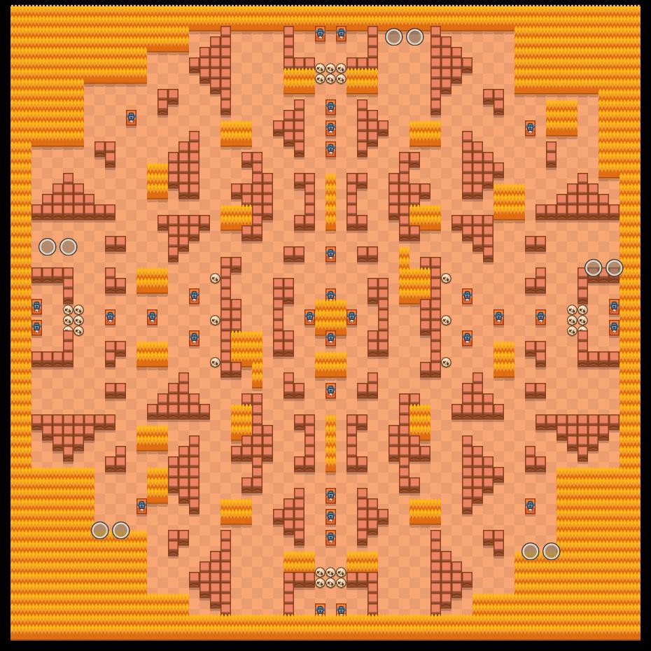 石墙林立 is a 双人荒野决斗 map in Brawl Stars.