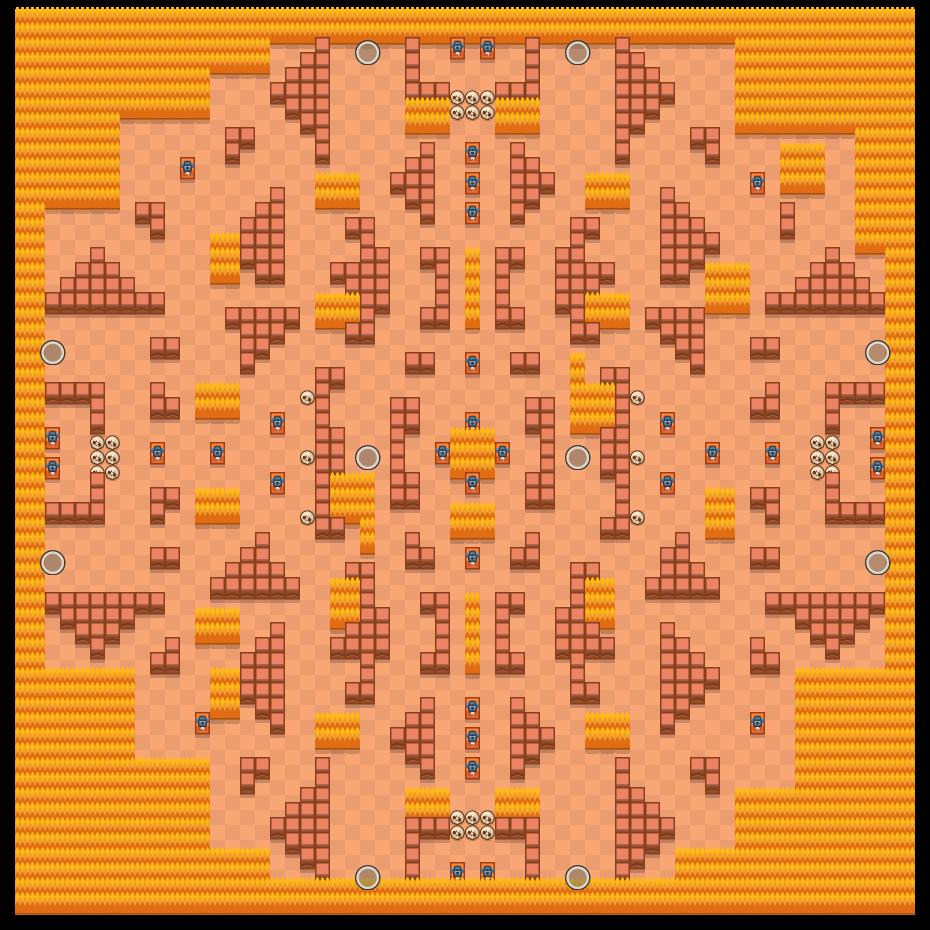 Rotsmuurstrijd is a Solo-Showdown map in Brawl Stars.