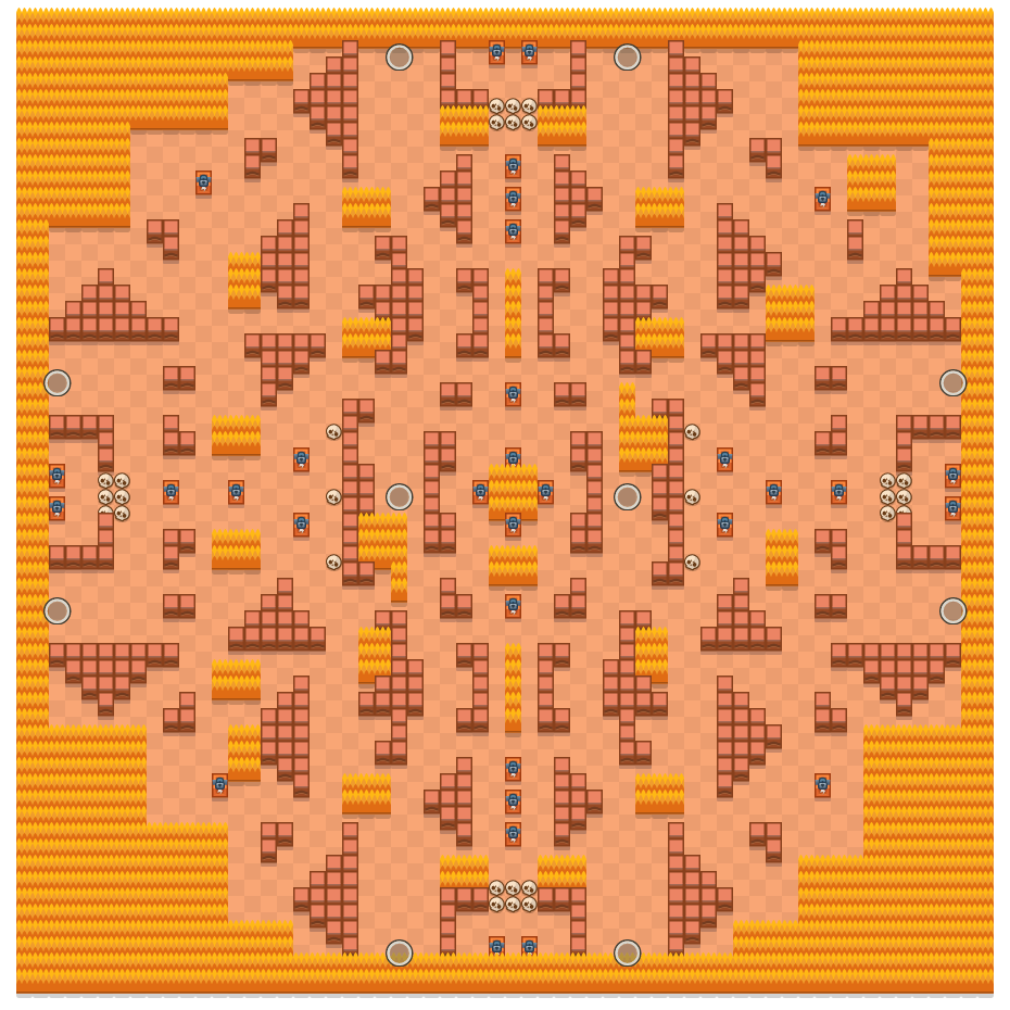 Rockwall Brawl is a Solo Showdown Brawl Stars map. Check out Rockwall Brawl's map picture for Solo Showdown and the best and recommended brawlers in Brawl Stars.