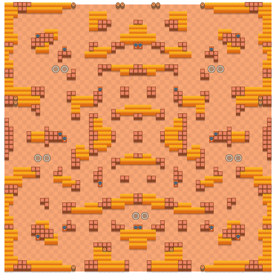 Rocky Blocks is a Duo Showdown Brawl Stars map. Check out Rocky Blocks's map picture for Duo Showdown and the best and recommended brawlers in Brawl Stars.