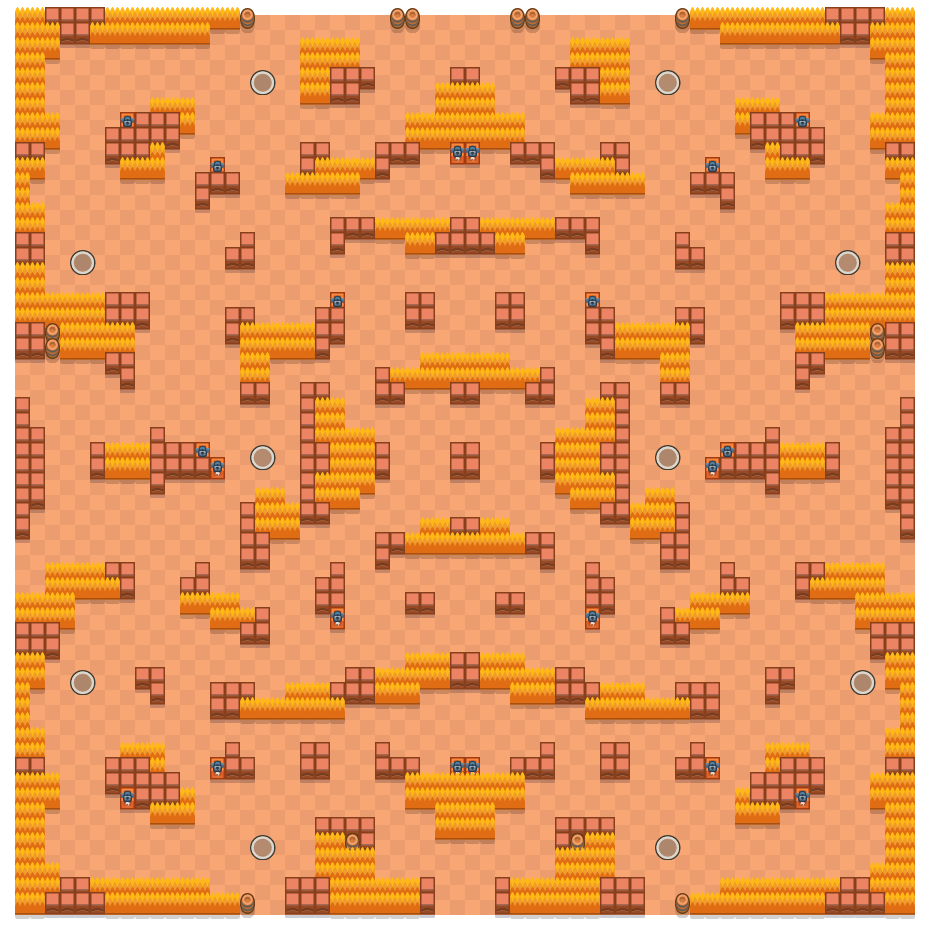 Rotsblokken is a Solo-Showdown Brawl Stars map. Check out Rotsblokken's map picture for Solo-Showdown and the best and recommended brawlers in Brawl Stars.