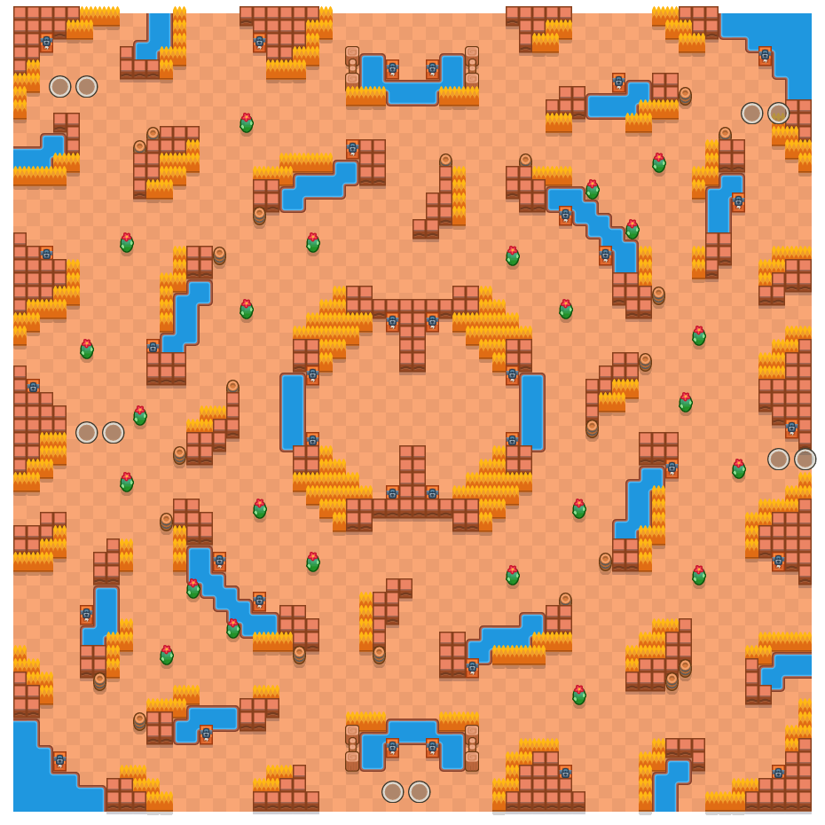 Royal Runway is a Duo Showdown Brawl Stars map. Check out Royal Runway's map picture for Duo Showdown and the best and recommended brawlers in Brawl Stars.