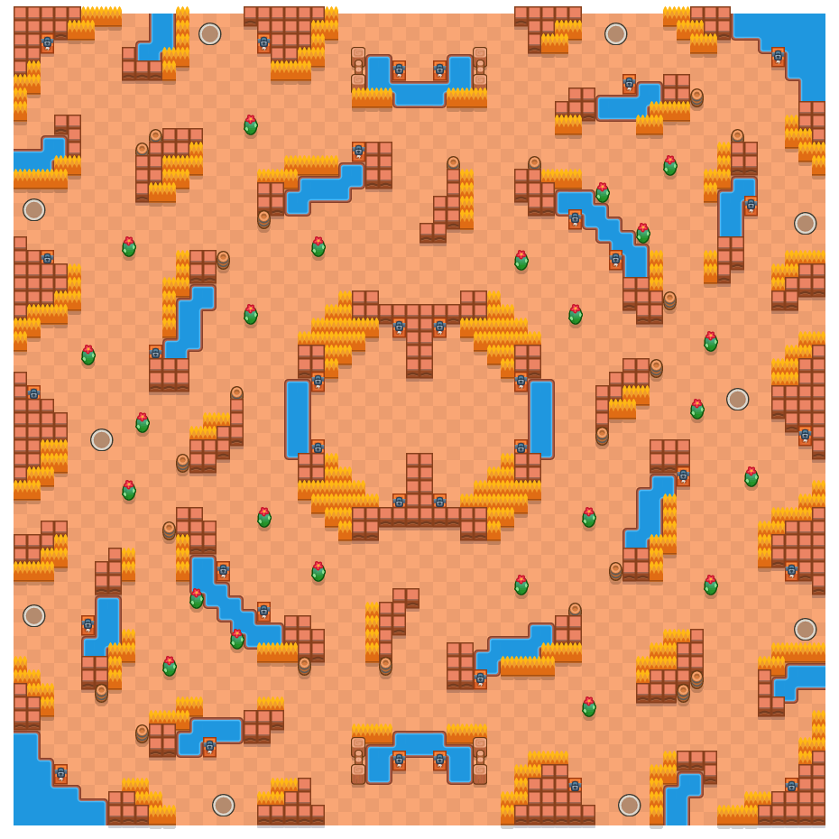 Koninklijke baan is a Solo-Showdown Brawl Stars map. Check out Koninklijke baan's map picture for Solo-Showdown and the best and recommended brawlers in Brawl Stars.