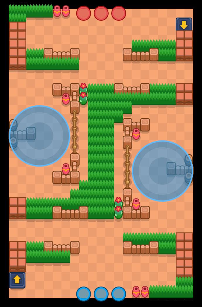 Faixa de sabotagem is a Zona Estratégica map in Brawl Stars.