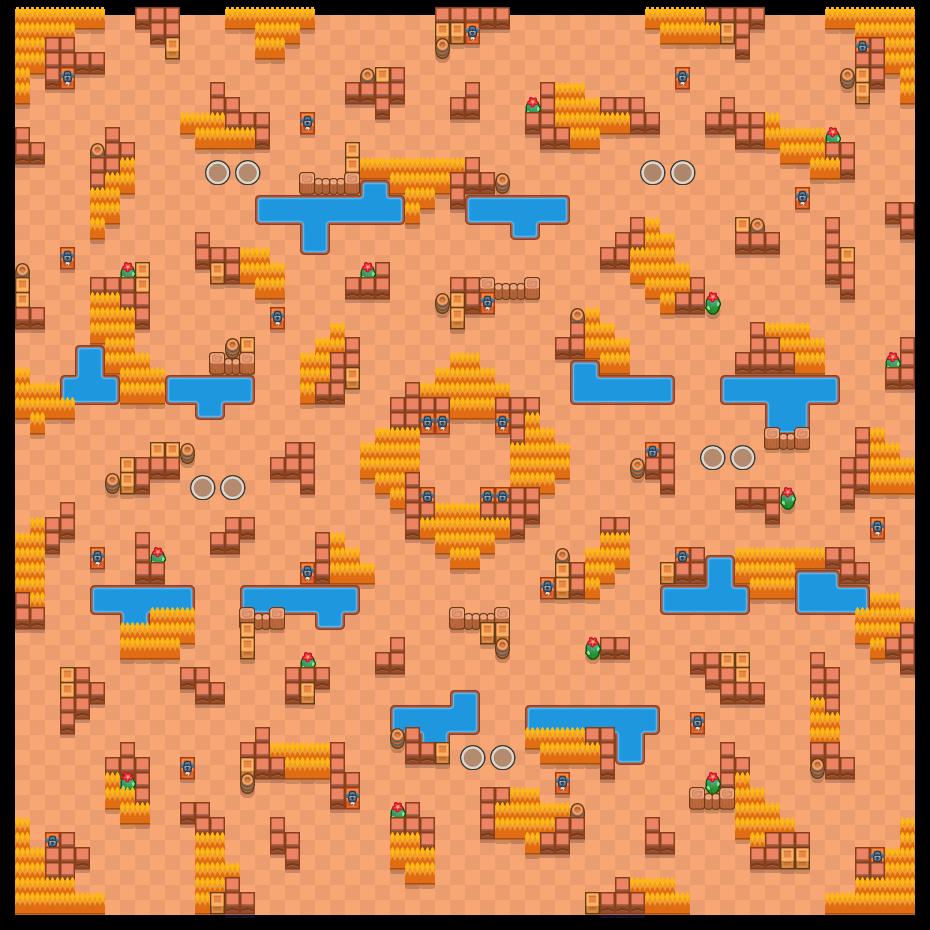Schuilplaats is a Duo-Showdown map in Brawl Stars.