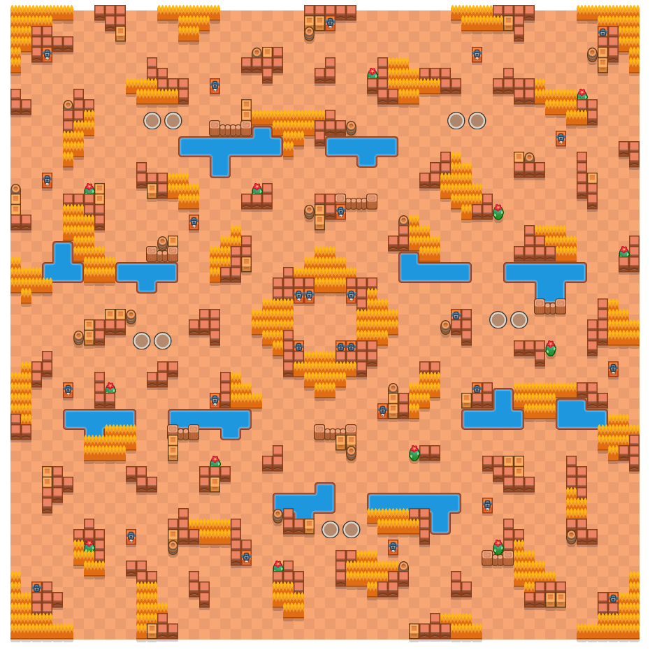 Safety Center is a Duo Showdown Brawl Stars map. Check out Safety Center's map picture for Duo Showdown and the best and recommended brawlers in Brawl Stars.
