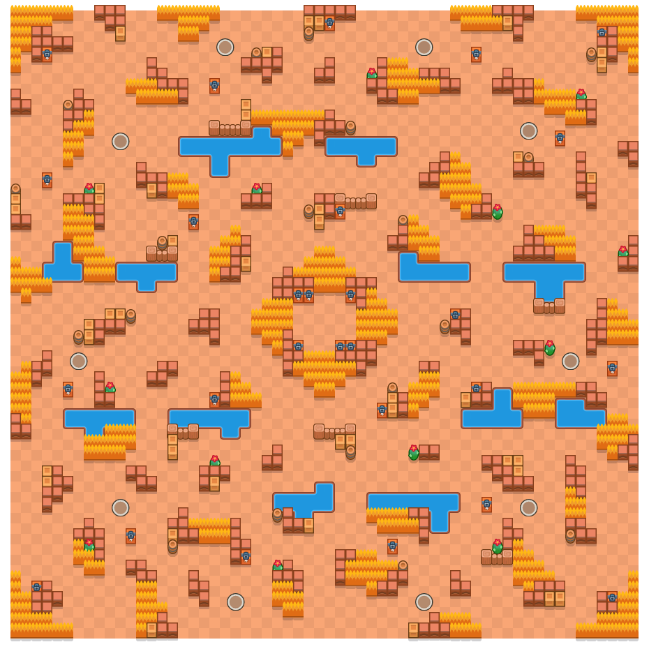 Safety Center is a Showdown map in Brawl Stars.