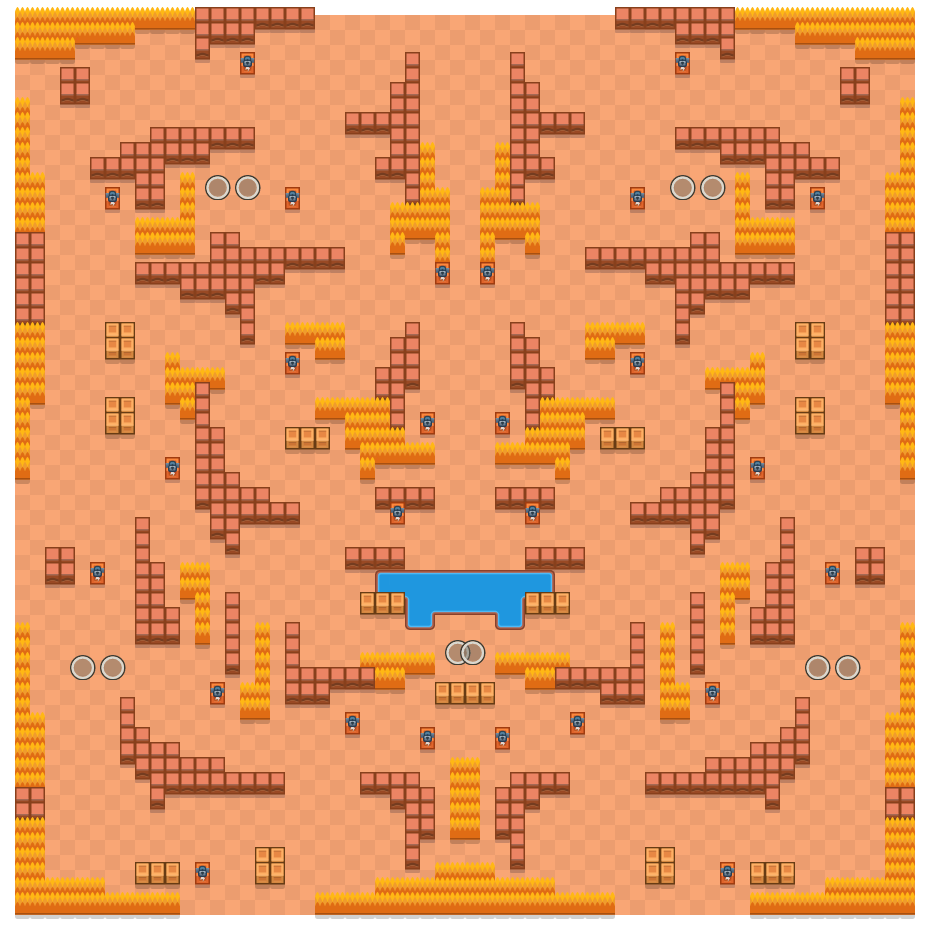 Shadow Spirits is a Duo Showdown Brawl Stars map. Check out Shadow Spirits's map picture for Duo Showdown and the best and recommended brawlers in Brawl Stars.