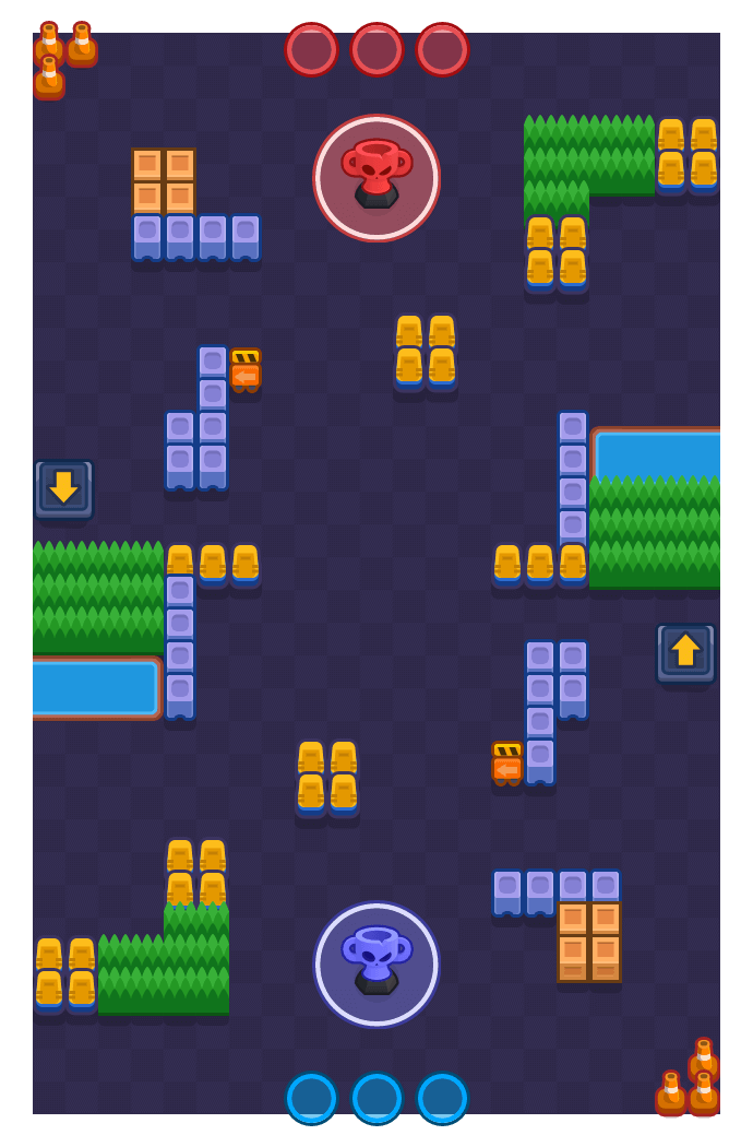 Side Door is a Trophy Thieves Brawl Stars map. Check out Side Door's map picture for Trophy Thieves and the best and recommended brawlers in Brawl Stars.