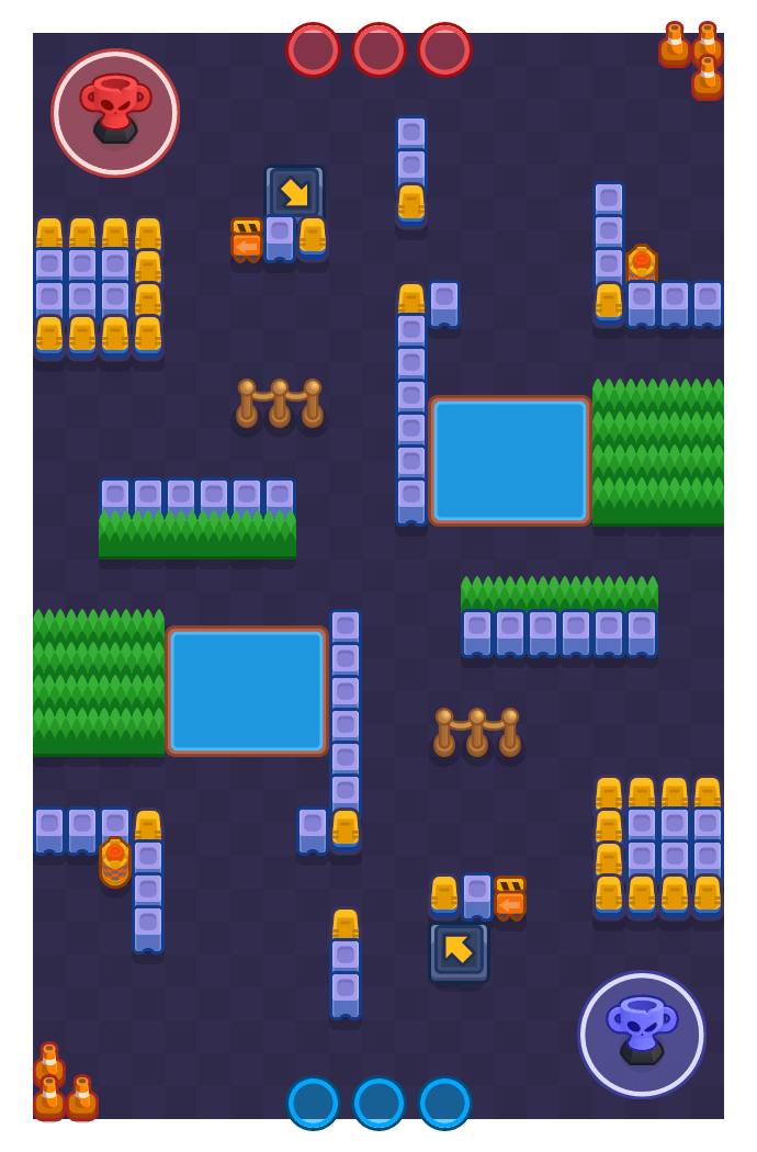 Sideswipe is a Trophy Thieves Brawl Stars map. Check out Sideswipe's map picture for Trophy Thieves and the best and recommended brawlers in Brawl Stars.