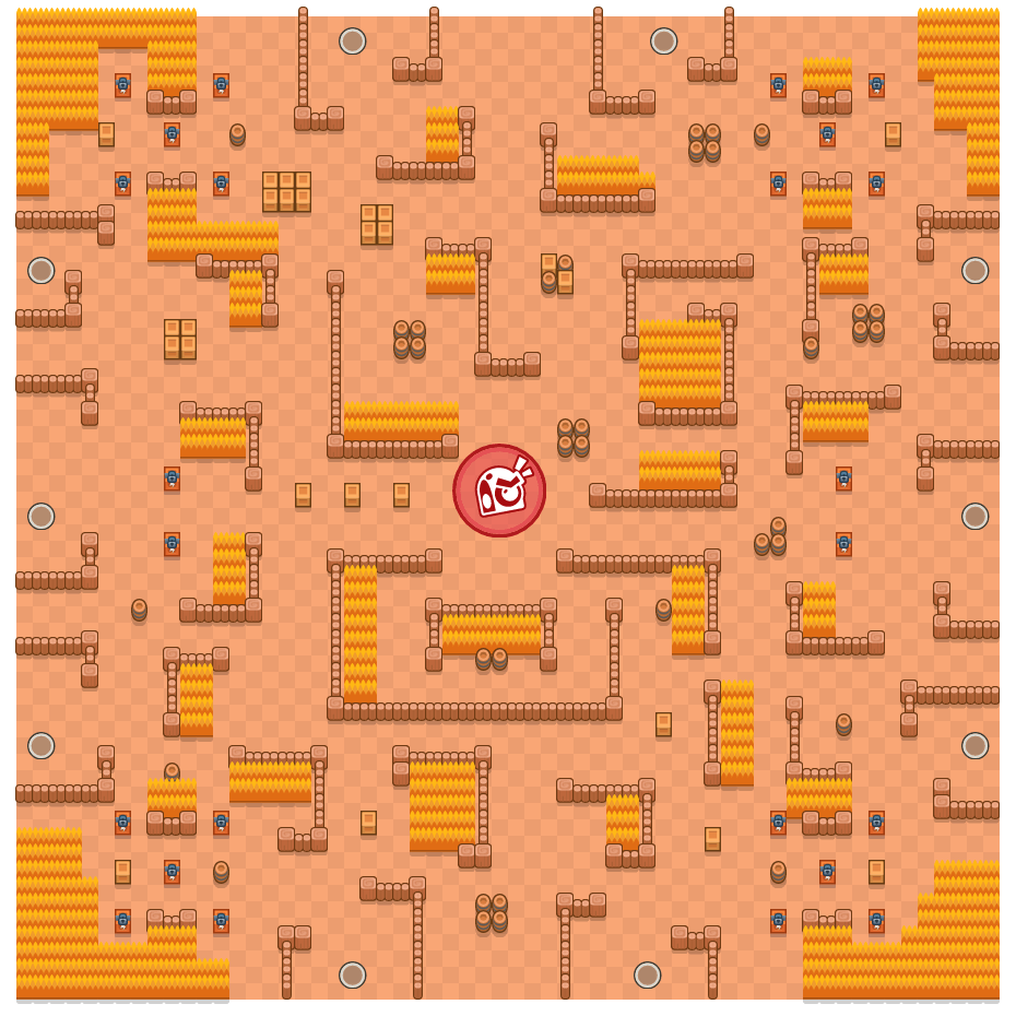 Silly Standoff is a Takedown Brawl Stars map. Check out Silly Standoff's map picture for Takedown and the best and recommended brawlers in Brawl Stars.